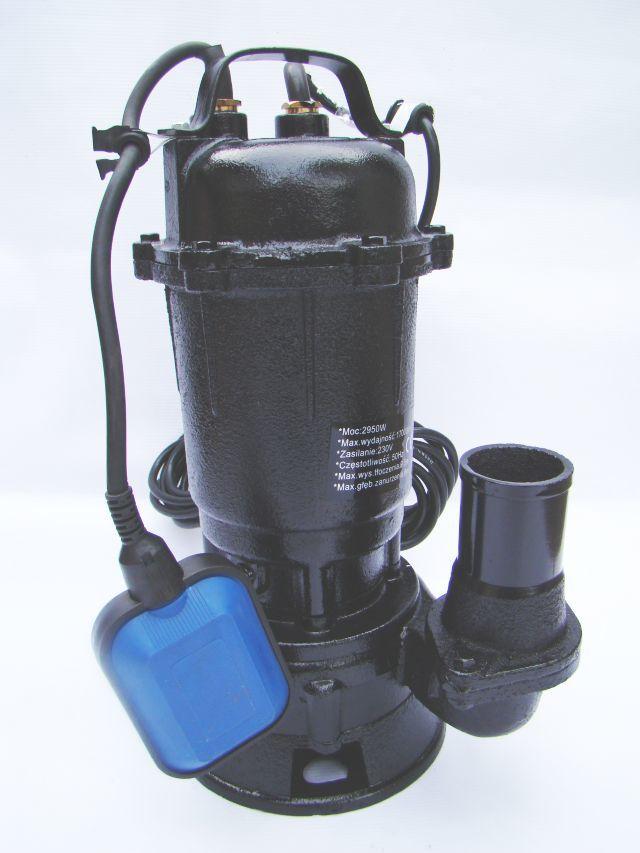 Pompa do wody brudnej z rozdrabniaczem i pływakiem 2850W