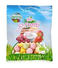 Żelki owocowe JOGURTOWE bezglutenowe BIO 80 g Okovital