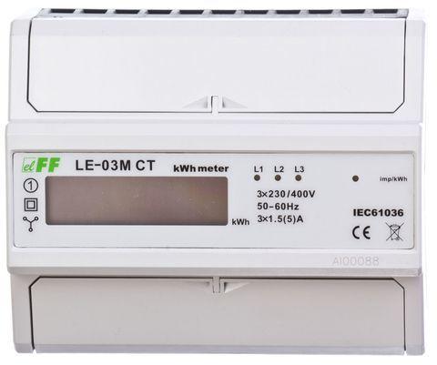 Licznik energii elektrycznwj 3-fazowy z programowalną przekładnią 5-6000/5A RS-485 MODBUS cyfrowy LE-03M-CT