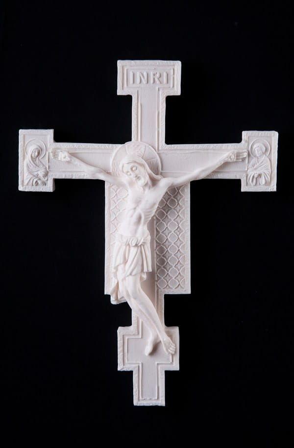 Krzyż z San Damiano, alabastrowy