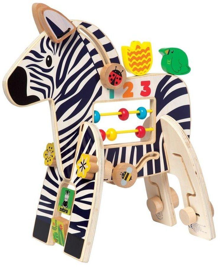 Zabawka edukacyjna Kolorowa zebra w paski, 316310-Manhattan Toy, kostka motoryczna