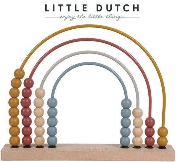 Little Dutch - Liczydło drewniane metalowe Pure & Nature