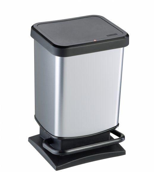Kosz na śmieci PASO 20L srebrny