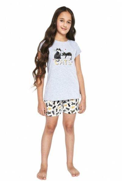 Cornette cats 787/87 melanż piżama dziewczęca