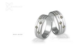 Obrączki srebrne - wzór Ag-026