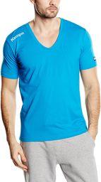 Kempa T-shirt Core kołnierzyk V, niebieski kempa, M