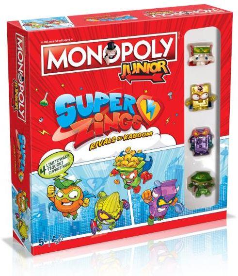 Monopoly Junior Super Zings ZAKŁADKA DO KSIĄŻEK GRATIS DO KAŻDEGO ZAMÓWIENIA