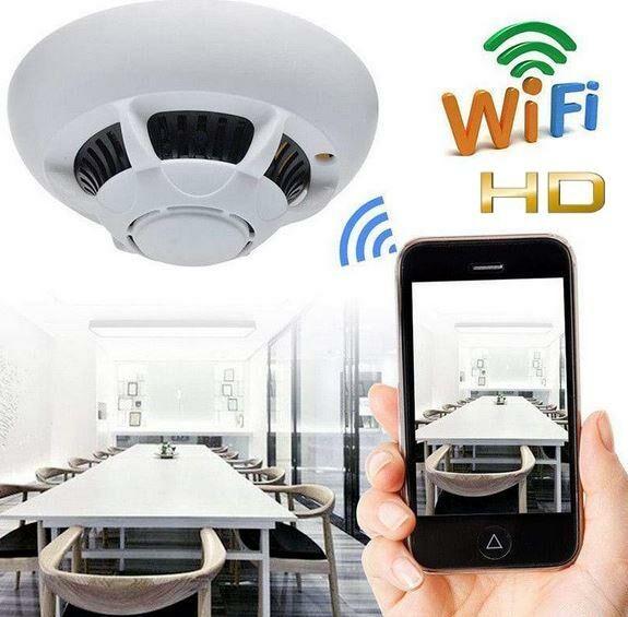 Mikro-Kamera FULL HD WiFi/P2P Ukryta w Czujce Dymu/Ognia (cały świat!) + Zapis + Detekcja Ruchu...