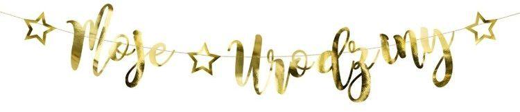 Baner Moje Urodziny złoty 90cm 1szt. GRL82-019M