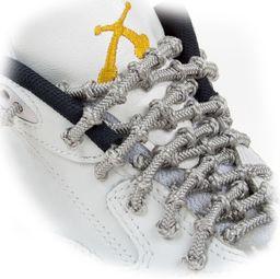 Xtenex 0836671009130 sznurowadła sportowe, uniseks  dla dorosłych, srebrne, 75 cm