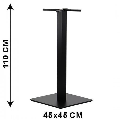 Podstawa stolika SH-5002-7/H/B, 55x55 cm, wysokość 110 cm (stelaż stolika), kolor czarny