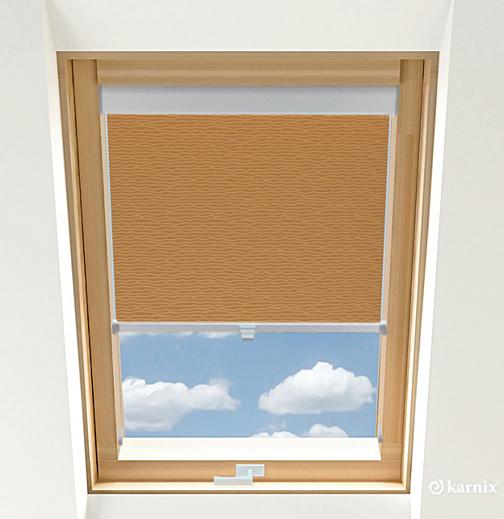 Rolety do okien dachowych BASIC BASMATI - Cappuccino / Srebrny
