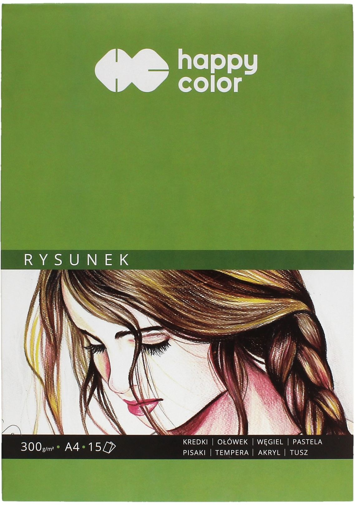 Blok rysunkowy A4/15 300g Happy Color