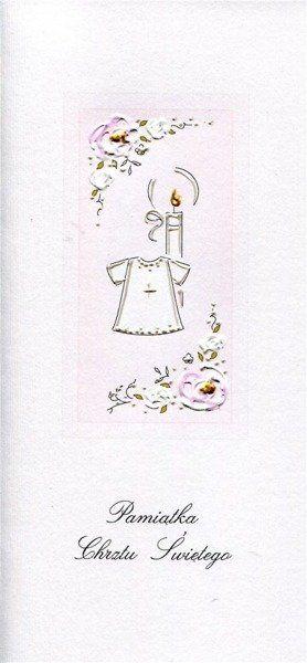 Karnet Chrzest DL C11 - Koszulka dziewczynka
