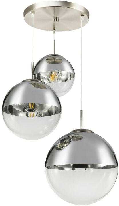 Globo VARUS 15851-3 lampa wisząca satyna nikiel chrom 3xE27 40W 20-25-30cm