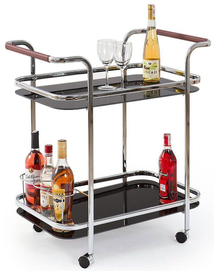 Barowy stolik na kółkach Enton - czarny