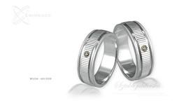 Obrączki srebrne - wzór Ag-028