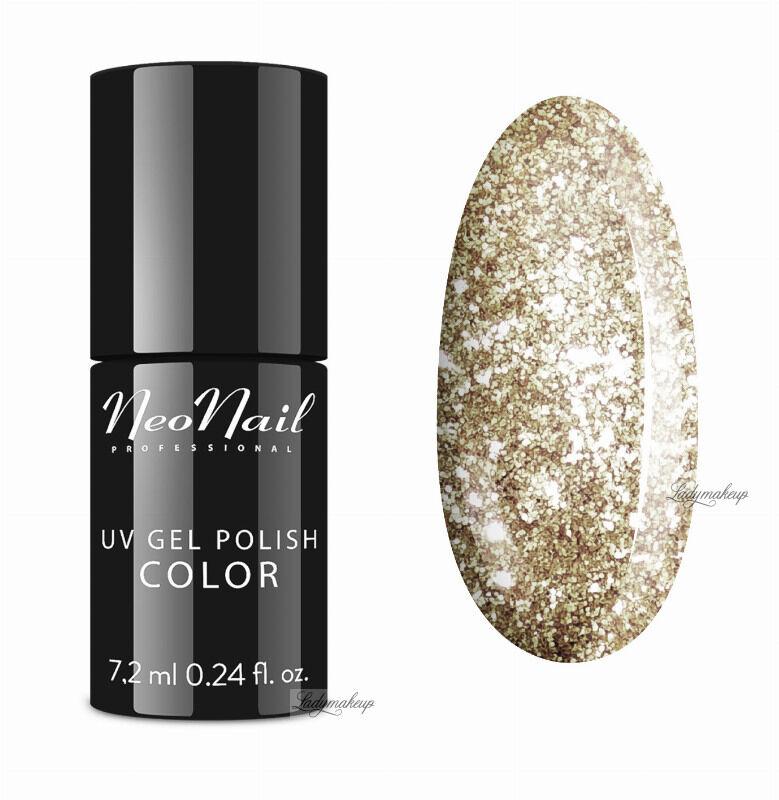 NeoNail - UV GEL POLISH COLOR - Lakier hybrydowy z błyszczącymi drobinami - 5371-7 CHAMPAGNE KISS