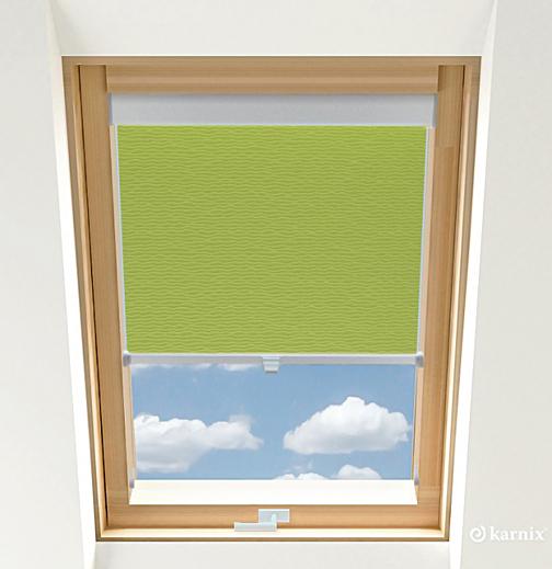 Rolety do okien dachowych BASIC BASMATI - Mięta / Srebrny