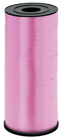 Wstążka plastikowa do balonów różowa 5mm 92m 511417