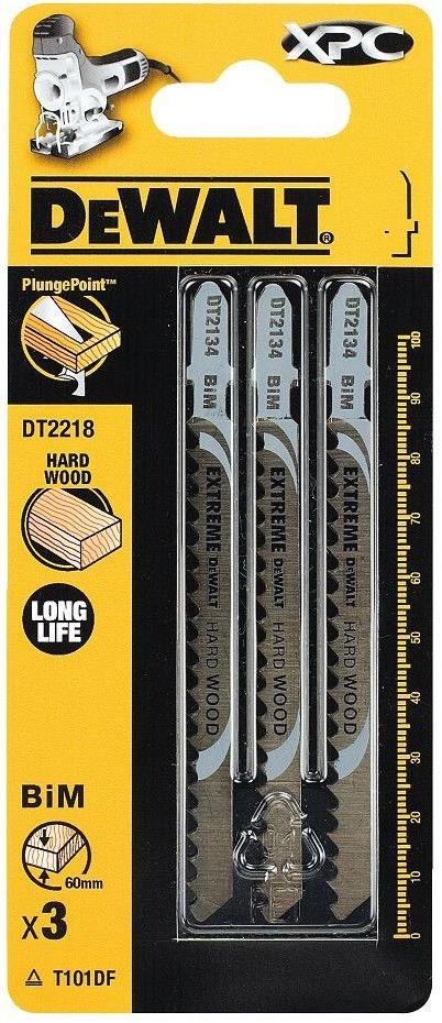 brzeszczoty do wyrzynarek 100mm do cięcia drewna, laminatów 3 szt. DeWalt [DT2218]