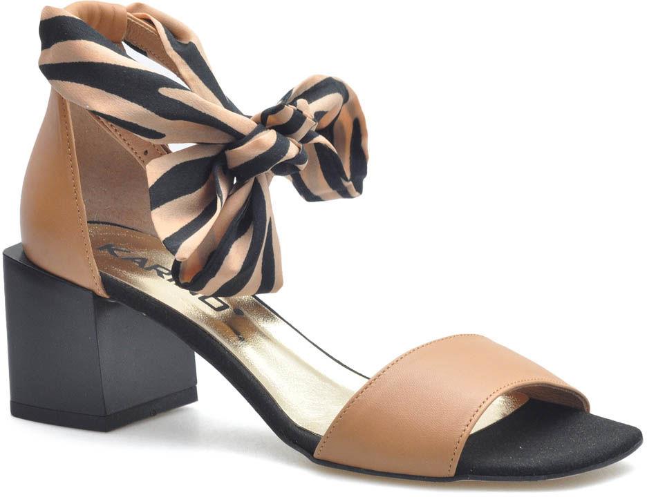 Sandały Karino 3316/007-P Jasny Brąz lico
