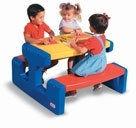 Little Tikes - Duży stół piknikowy niebieski 4668
