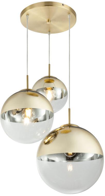 Globo VARUS 15855-3 lampa wisząca złota 3xE27 40W 20-25-30cm
