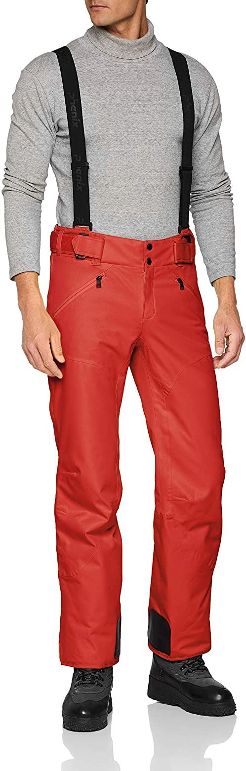 Phenix Męskie Hakuba Slim Salopette spodnie, czerwone, 2XL