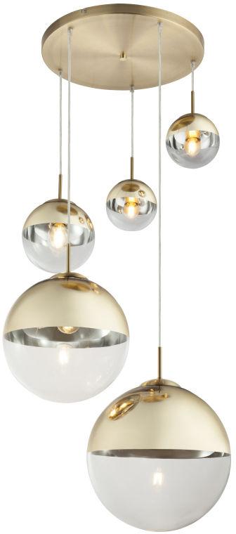 Globo VARUS 15855-5 lampa wisząca złota 3xE27 40W 2xE27 25W 65cm