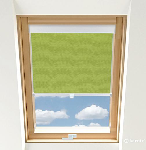 Rolety do okien dachowych - BASMATI - Mięta / Biały