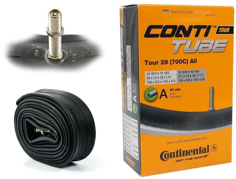 """Dętka Continental Tour 28 ALL 32/47-622/635 28"""" x 1,25"""" - 1,75"""" wentyl auto 40 mm"""