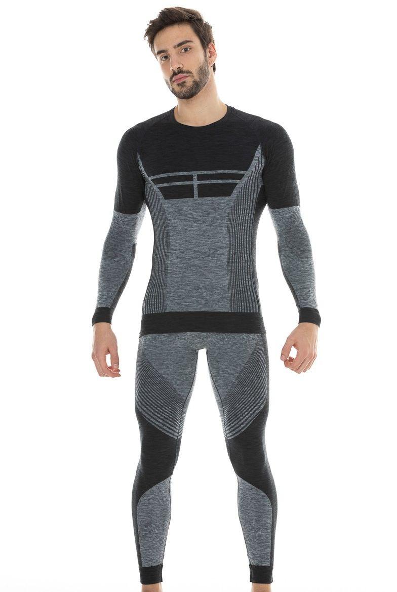 Męskie legginsy sportowe Livigno, termoaktywne