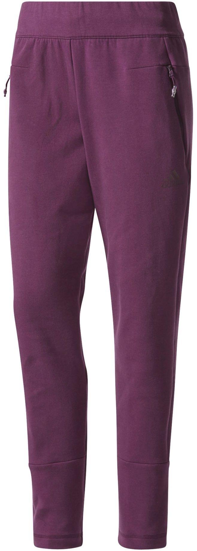 adidas Damskie spodnie Zne Slim Violet (Red Night) 2X-Small/Large