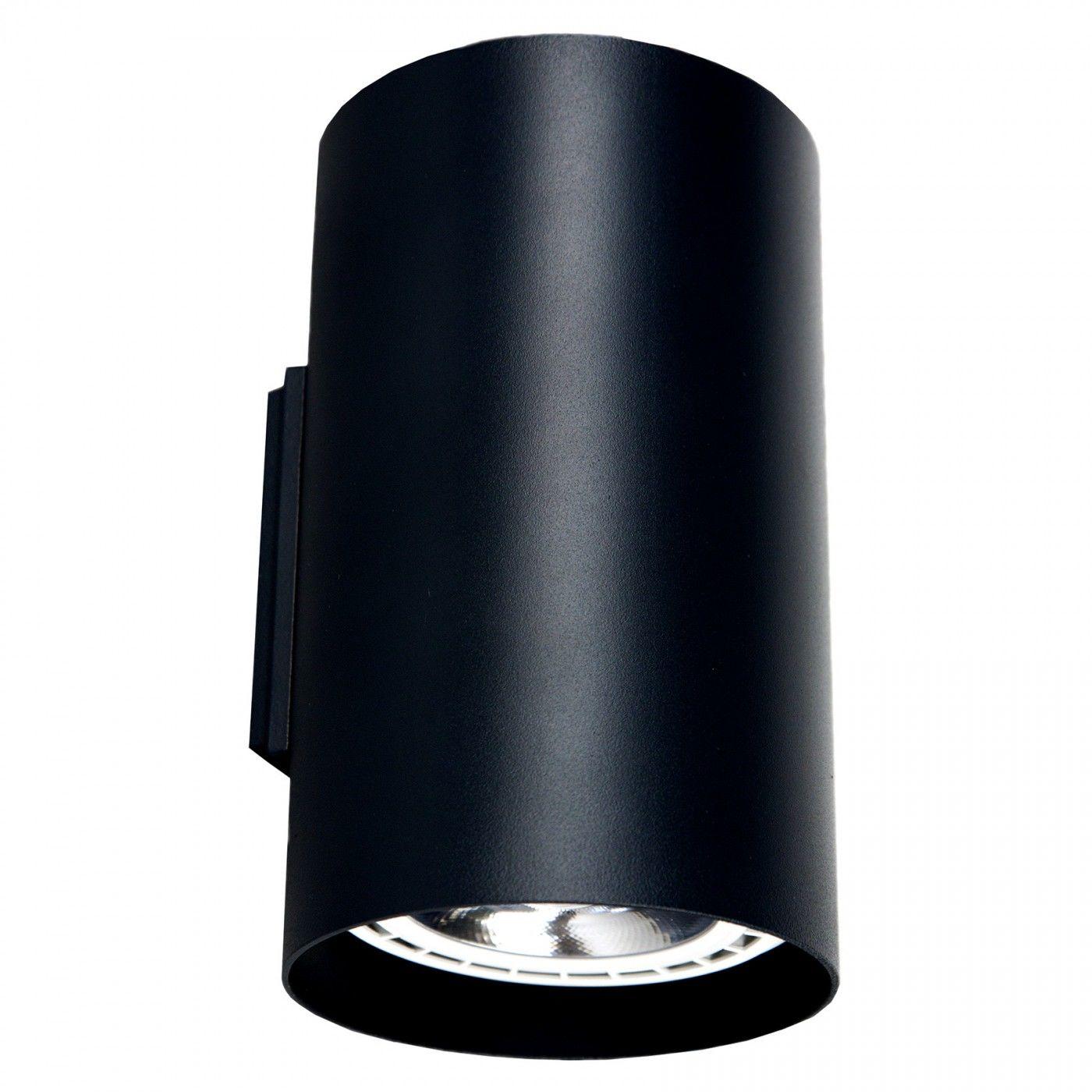 Kinkiet Tube 9320 Nowodvorski Lighting pionowa czarna oprawa ścienna