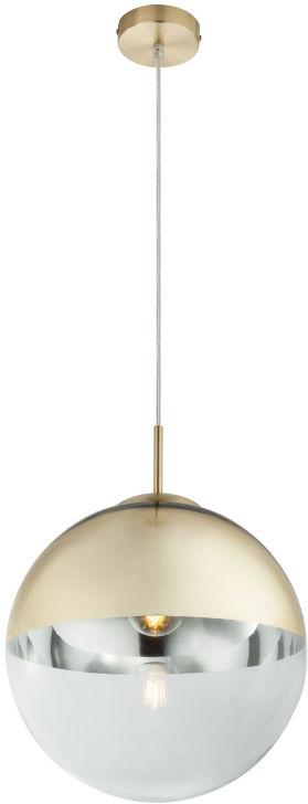 Globo VARUS 15857 lampa wisząca złota przeźroczysta 1xE27 30cm