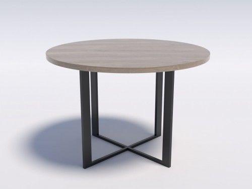 Nowoczesny stół okrągły RING 6 110 Dąb brunico