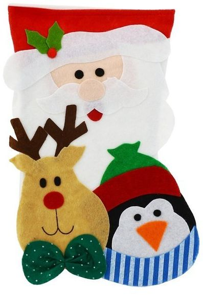 Świąteczna skarpeta na prezenty Mikołaj 1 szt NW-SKMR
