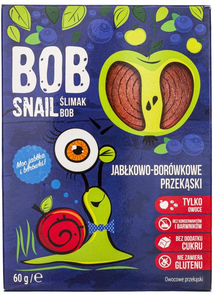 Bob Snail Przekąska jabłkowo-borówkowa bez dodatku cukru - 60 g