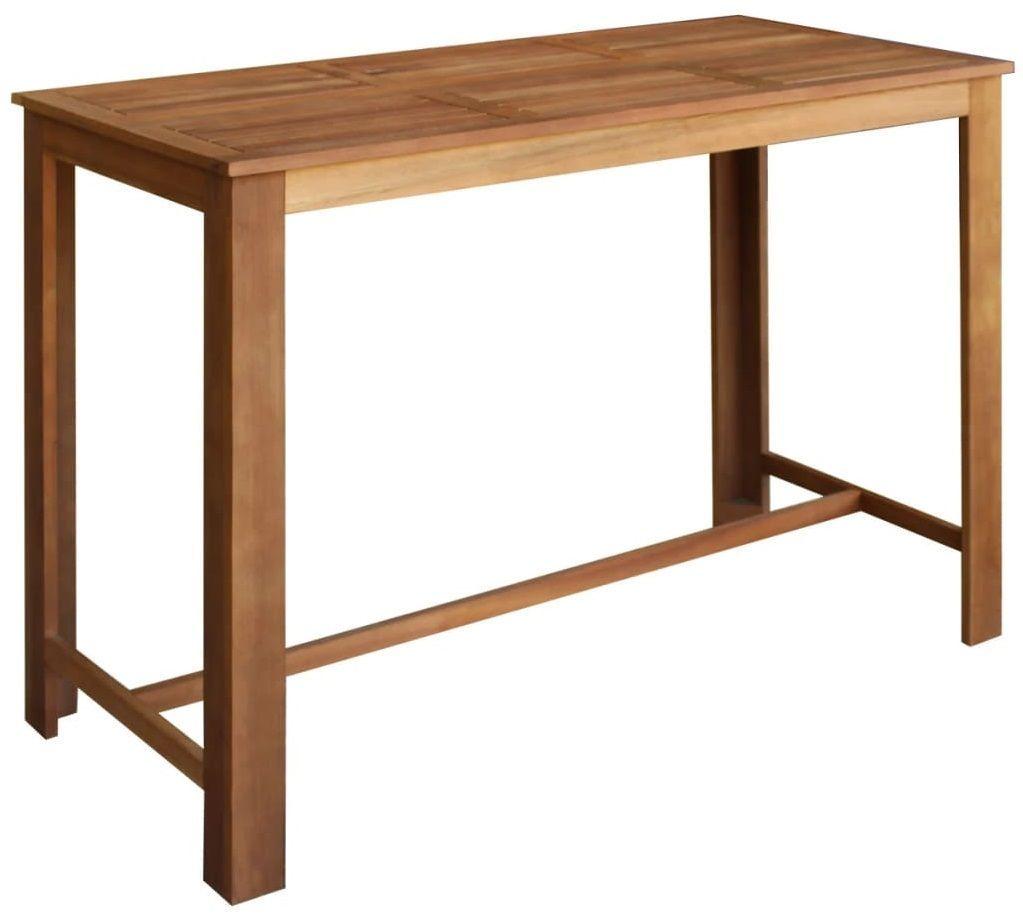 Stolik barowy drewniany Piles 4X  brązowy