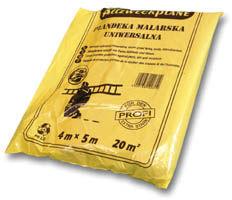 Folia / Plandeka malarska żółta 4/5m 30 mikr.