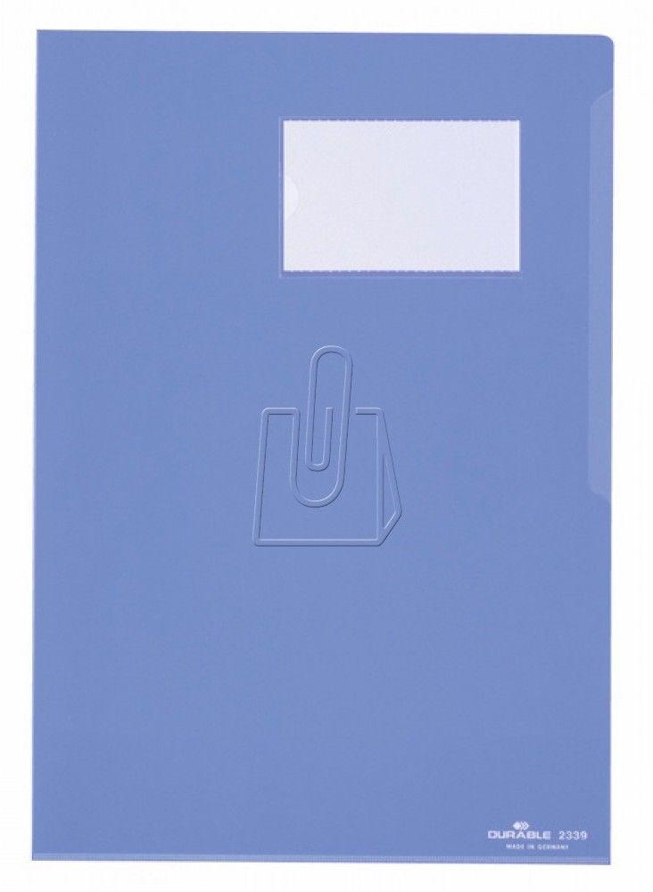 Samoprzylepna kieszonka na wizytówki POCKETFIX 93x62mm na etykietę 57x90mm 10 sztuk 807919