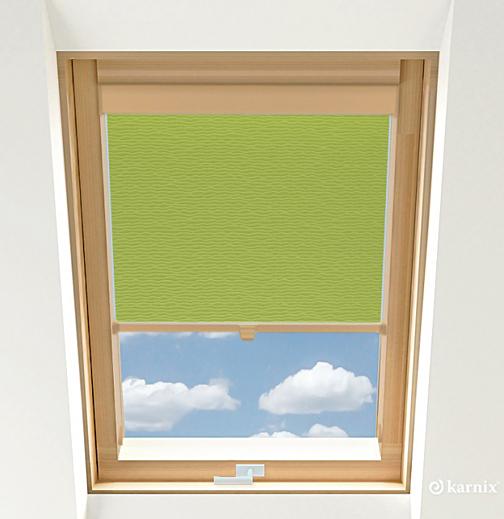 Rolety do okien dachowych - BASMATI - Mięta / Sosna