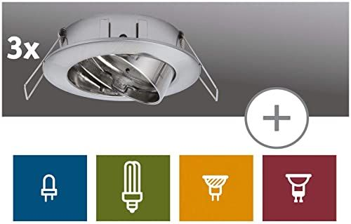Paulmann 99743 LED oprawa do zabudowy Premium 2Easy, wychylne, do łączenia z zestawami Paulmann Downlight 2Easy Basic