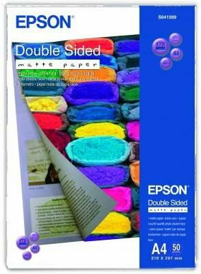 Dwustronny papier matowy EPson (A4) - 50 Blatt; 178g/m2 S041569