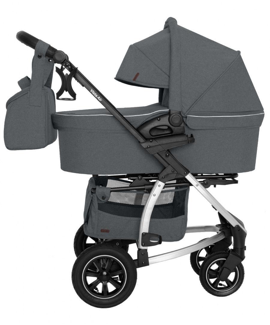 Wózek uniwersalny CARRELLO Vista 2w1 Steel Gray