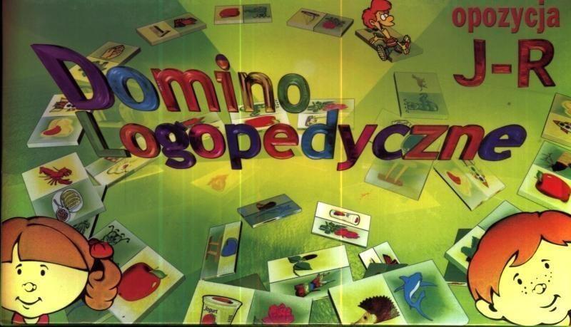 Gra - Domino logopedyczne J-R SAMO-POL ZAKŁADKA DO KSIĄŻEK GRATIS DO KAŻDEGO ZAMÓWIENIA