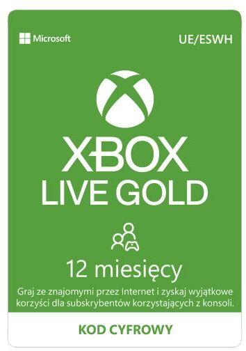 Subskrypcja Xbox Live Gold (12 m-cy) [kod aktywacyjny] Dostęp po opłaceniu zakupu