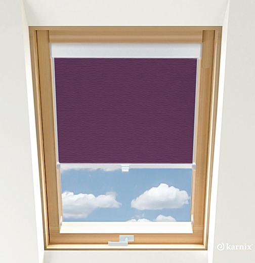 Rolety do okien dachowych BASIC BASMATI - Śliwka / Biały