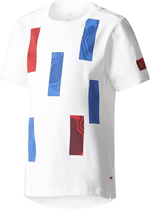 adidas Chłopcy Marvel Spider-man T-shirt chłopcy biały White/Croyal/Vivred 134 cm
